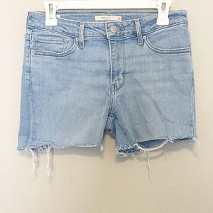 Levi's Cutoff Distressed Denim Shorts Size 29